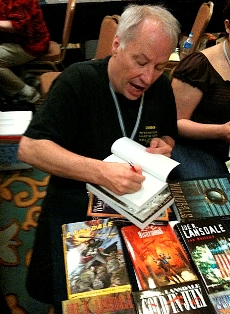 Hardest working man in showbusiness: Mr. Joe R. Lansdale. (Photo swiped from John Picacio.)