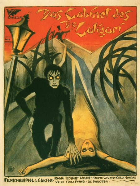 The bizarre sets of the silent film The Cabinet of Dr. Caligari make for a skewed viewing experience.